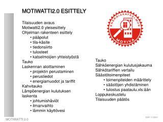 MOTIWATTI2.0 ESITTELY