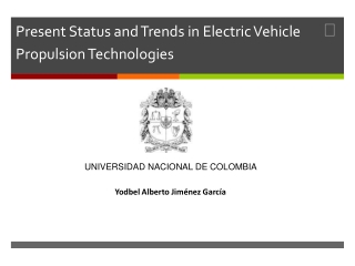 Present Status and Trends in Electric Vehicle  Propulsion Te