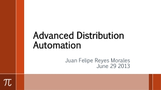 Advanced Distribution Automation