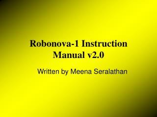 Robonova-1 Instruction Manual v2.0