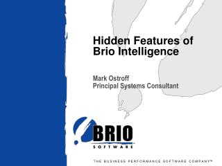 Hidden Features of Brio Intelligence