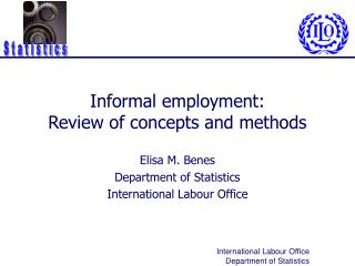 Informal employment:  Review of concepts and methods