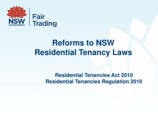 Reforms to NSW  Residential Tenancy Laws