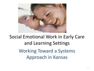 Social Emotional Work in Early Care and Learning Settings