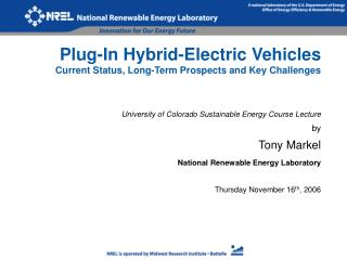 Plug-In Hybrid-Electric Vehicles Current Status, Long-Term Prospects and Key Challenges