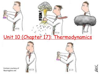 Unit 10 Chapter 17: Thermodynamics