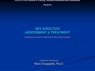 PROTOTYPES Division of Training, Technical Assistance and Consultation  Presents:             SEX ADDICTION  ASSESSMENT