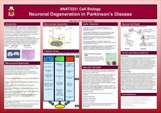ANAT3231 Cell Biology Neuronal Degeneration in Parkinson s Disease