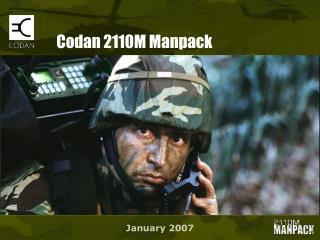 Codan 2110M Manpack