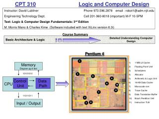 CPT 310    Logic and Computer Design
