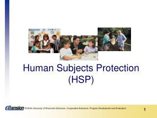 Human Subjects Protection HSP
