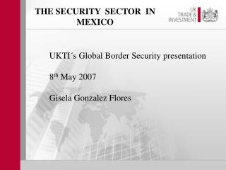 THE SECURITY  SECTOR  IN MEXICO