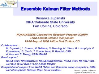 Ensemble Kalman Filter Methods
