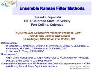 Ensemble Kalman Filter Methods