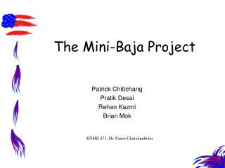 The Mini-Baja Project