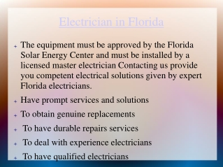 Electricians in Florida