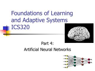 Foundations of Learning  and Adaptive Systems  ICS320