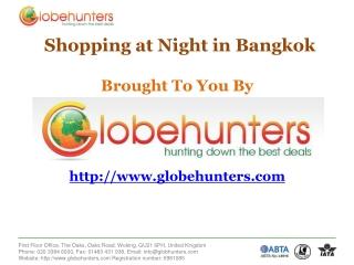 Flights to Bangkok with Globehunters