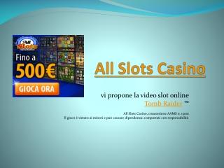 Slot machine Tomb Raider