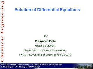 Solution of Differential Equations