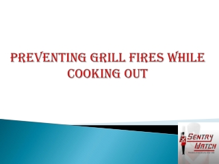 Preventing Grill Fires While Cooking Out