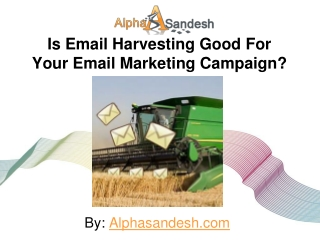 Is Email Harvesting Good For Your Email Marketing Campaign?