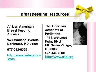 African American Breast Feeding Alliance