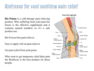 Biofreeze gel pain reliever