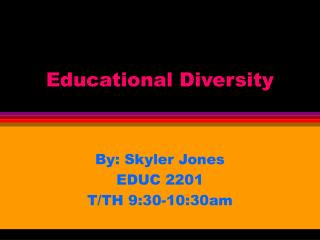 Educational Diversity
