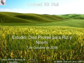 Unidad 10: Rut