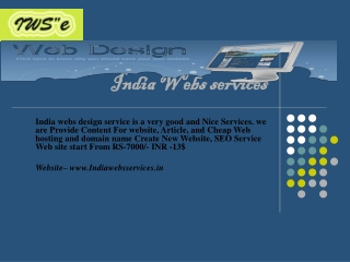 India webs services