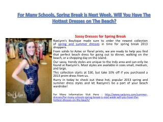 For Many Schools, Spring Break