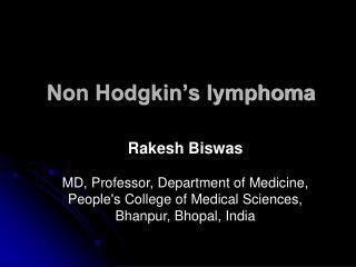 Non Hodgkin s lymphoma
