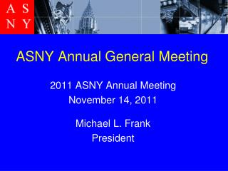 ASNY Annual General Meeting