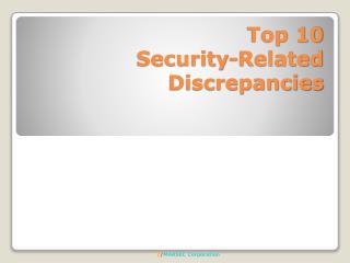 Top 10 Security-Related Discrepancies