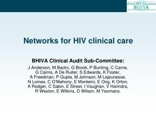 Networks for HIV clinical care
