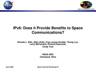 IPv6: Does it Provide Benefits to Space Communications