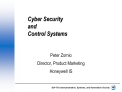 Cyber Security  and Control Systems