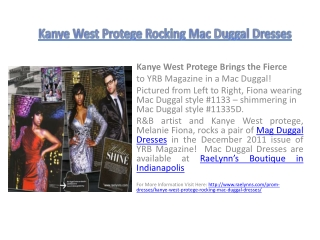 Kanye West Protege Rocking Mac Duggal Dresses
