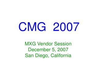 CMG  2007