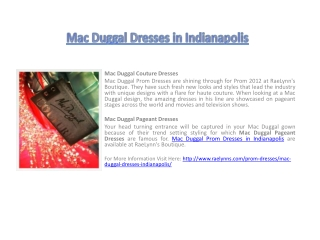 Mac Duggal Dresses in Indianapolis