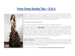 Prom Dress Buying Tips – Q