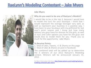 RaeLynn's Modeling Contestant – Jake Myers