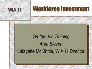Workforce Investment