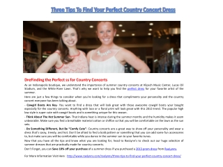 Three Tips To Find Your Perfect Country Concert Dress-1