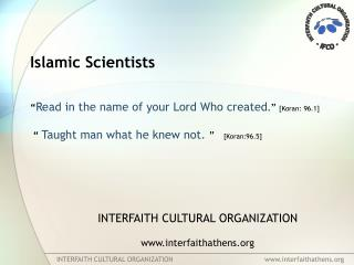 INTERFAITH CULTURAL ORGANIZATION                                            interfaithathens