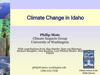 Climate Change in Idaho