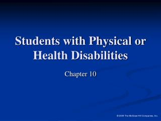 Students with Physical or Health Disabilities