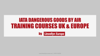 IATA Dangerous Goods By Air Training Course