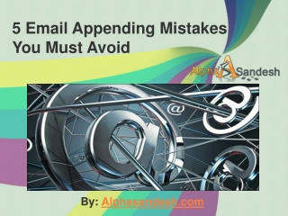 5 Email Appending Mistakes You Must Avoid